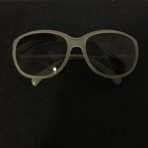 Authentic Grey Prada Sunglasses SPR07O 59mm wide